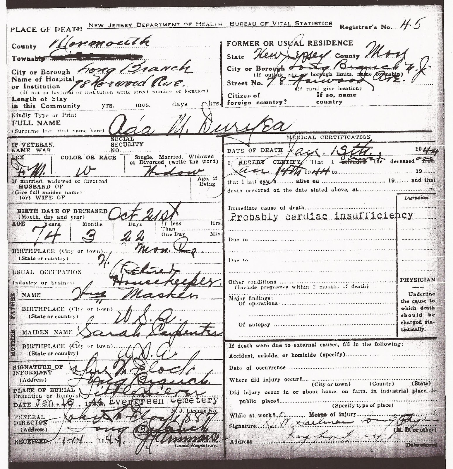 Family History Research By Jody Lutter Duryea New Jersey