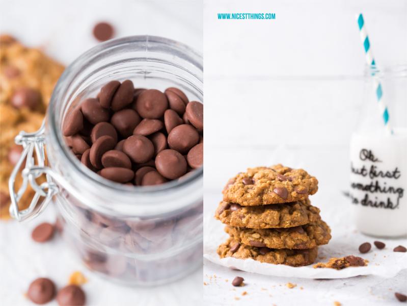 Gesundes Cookie Rezept ohne Mehl und ohne raffinierten Zucker
