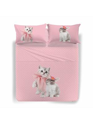 Pink de Caleffi Studio Pets by Myrna. Juego de sábanas