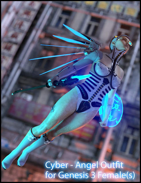 DAZ 3D - CyberAngel - The Outfit for Genesis 3 Female