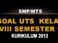 Soal UTS  Kelas VIII Semester 1 SMP/MTS KK 2013 Semua Mapel