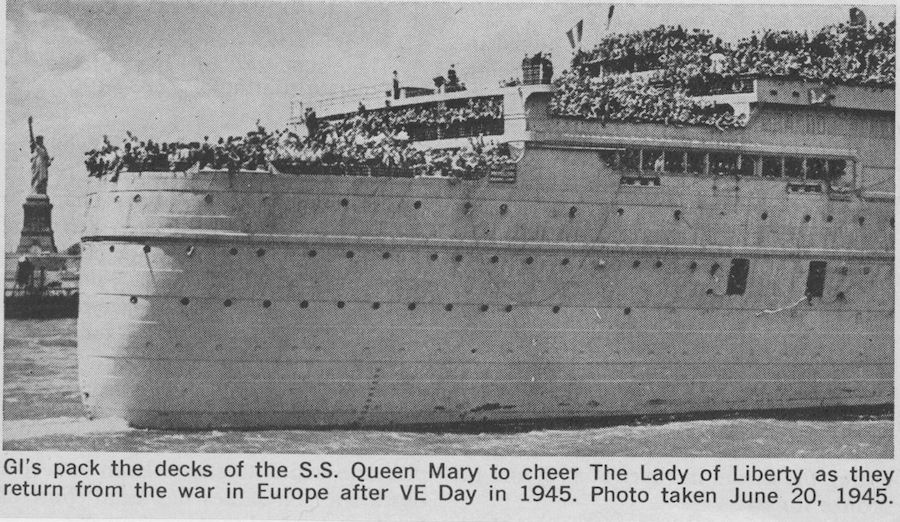Queen Mary served as troopship during WWII