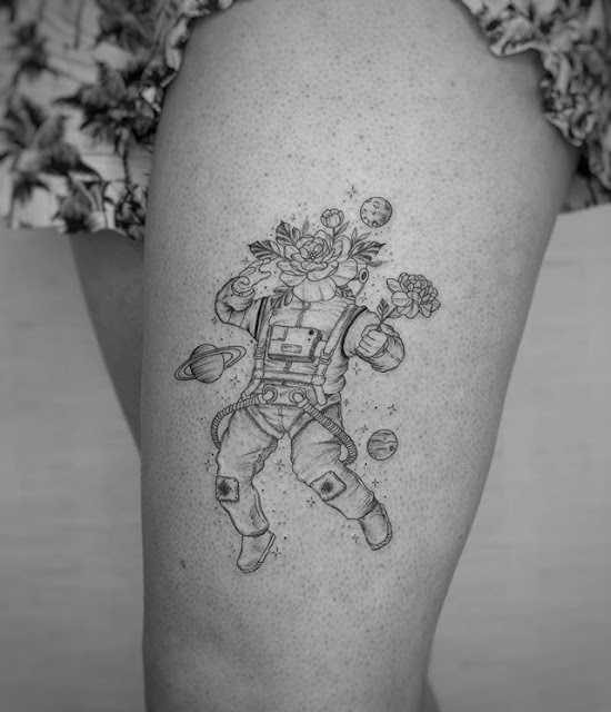 astronaut tattoo design