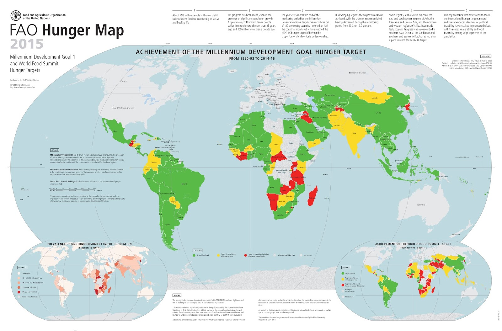 FAO Hunger Map (2015)