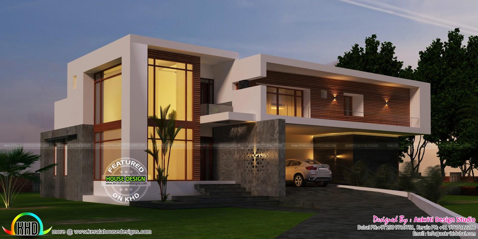 Super Luxury Contemporary Style Home Kerala Home Design