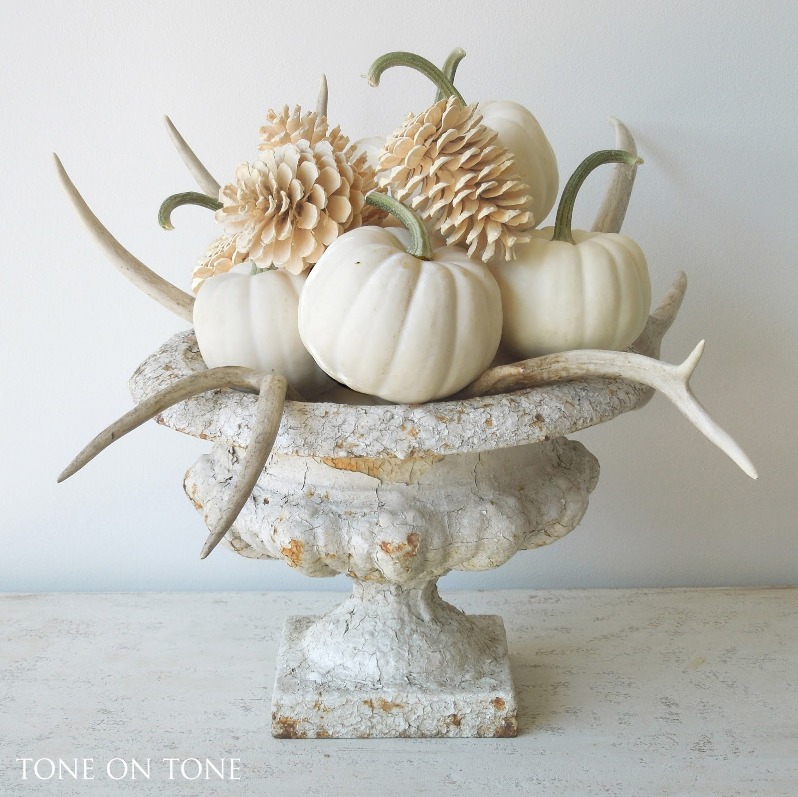 Tone on tone white fall decor and new arrivals White pumpkin carving ideas
