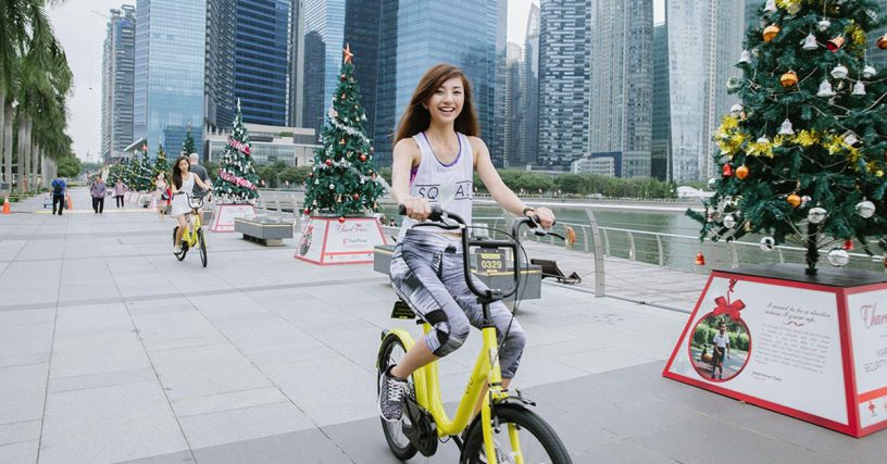 Ofo spokesman said that its fleet is 'growing' and each of its bikes is used four times a day.