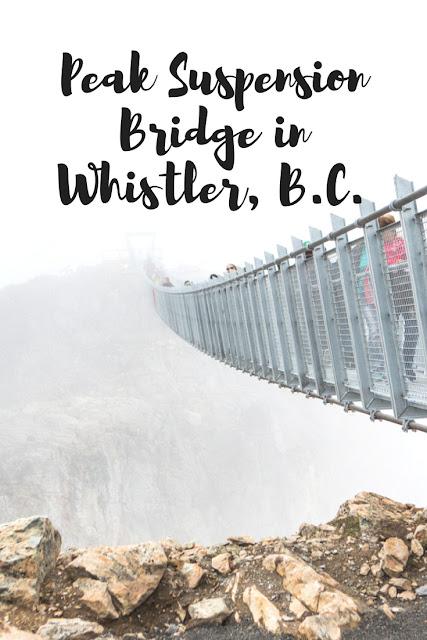 The newest adventure experience in Whislter, BC: The Peak Suspension Bridge