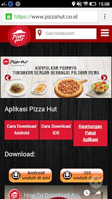 download dan instal aplikasi Pizza Hut