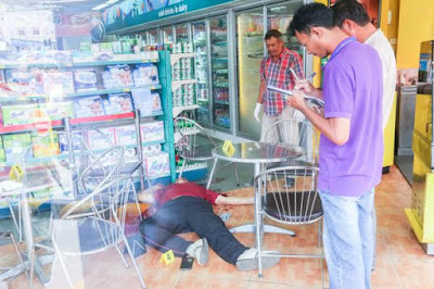 Kem Ley was shot and killed at a Caltex station on Monivong Boulevard. KT/ Chor Sokunthea