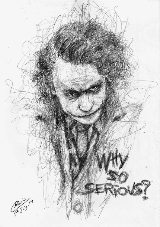 My Drawing - Joker from the Dark Knight.... - Live Out Loud . . . .