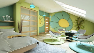schlafzimmer mit dachschräge farblich gestalten