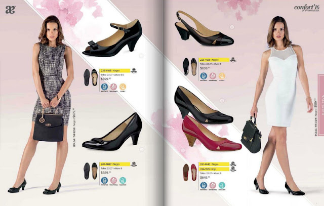 Calzado Andrea línea ejecutivo mujer moda  2016 catalogo