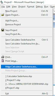 Mengubah project visual basic menjadi aplikasi EXE
