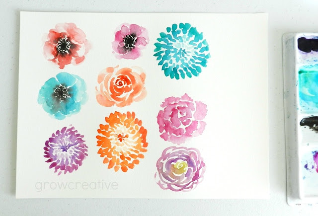 How to Paint Watercolor Flowers Tutorial