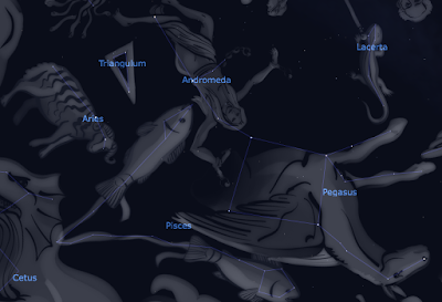 The Pegasus-Andromeda area spans a huge area of sky Screenshot from Stellarium