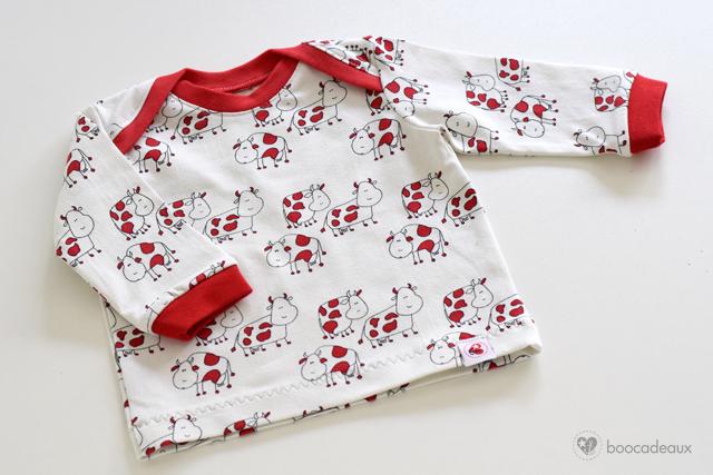 Babyshirt aus Kuh Jersey von Stoff und Stil