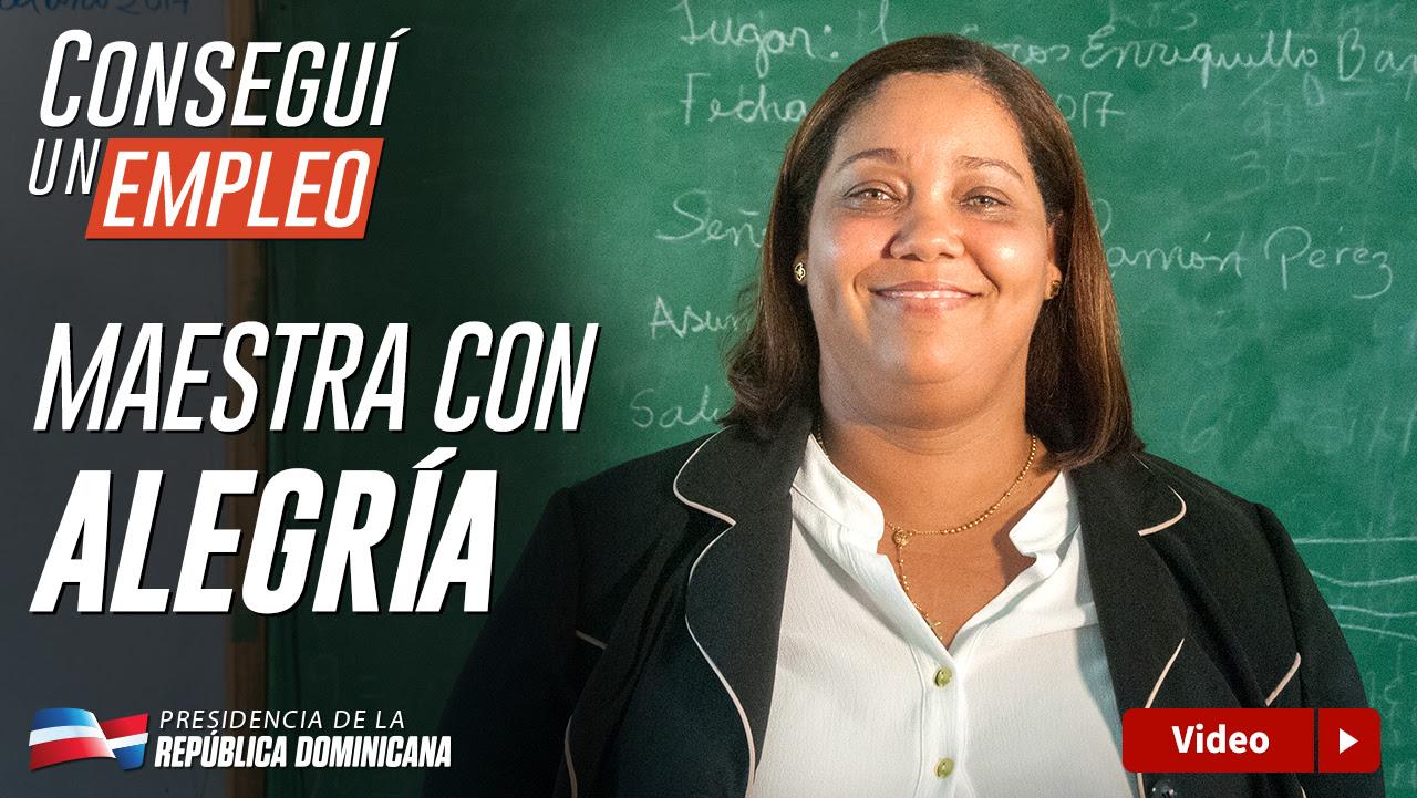 VIDEO: Conseguí un empleo. Maestra con alegría
