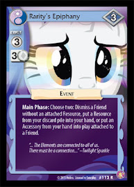 My Little Pony Rarity´s Epiphany Absolute Discord CCG Card