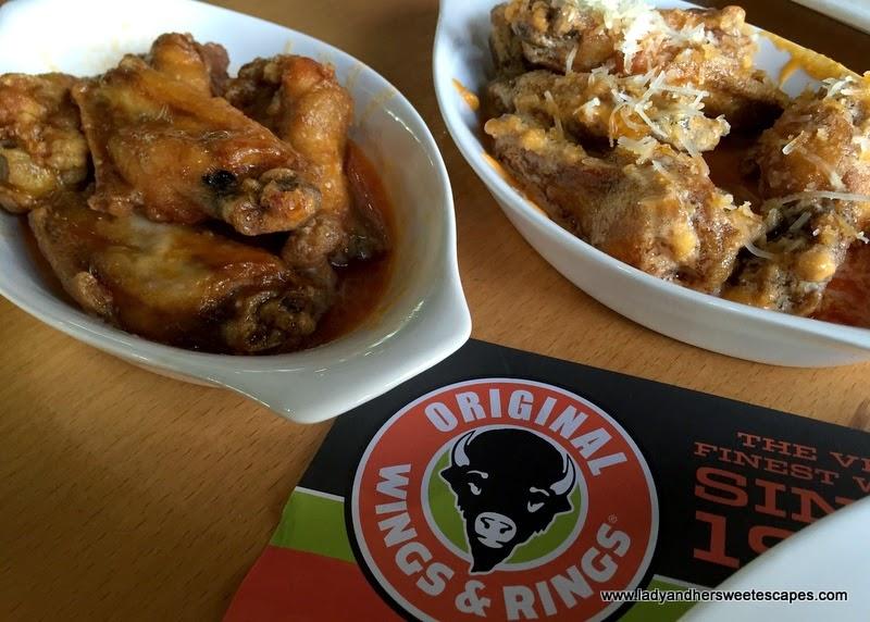 chicken wings at Original Wings and Rings Dubai