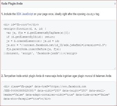 Cara Membuat dan Memasang FANSPAGE Facebook Melayang diBlog