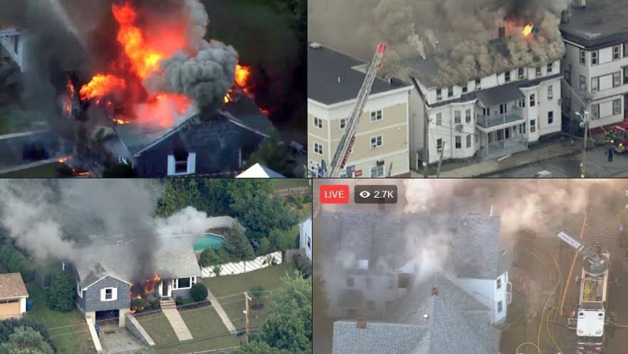 Massachusetts, esplosioni in serie: edifici in fiamme, panico e feriti - VIDEO.