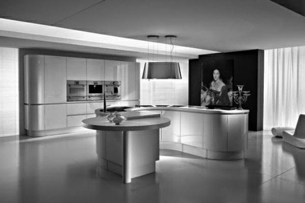 cocina moderna color blanco