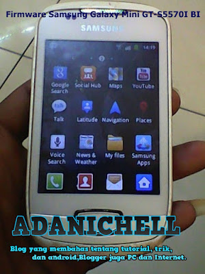 Firmware Samsung Galaxy Mini GT-S5570I Bahasa Indonesia