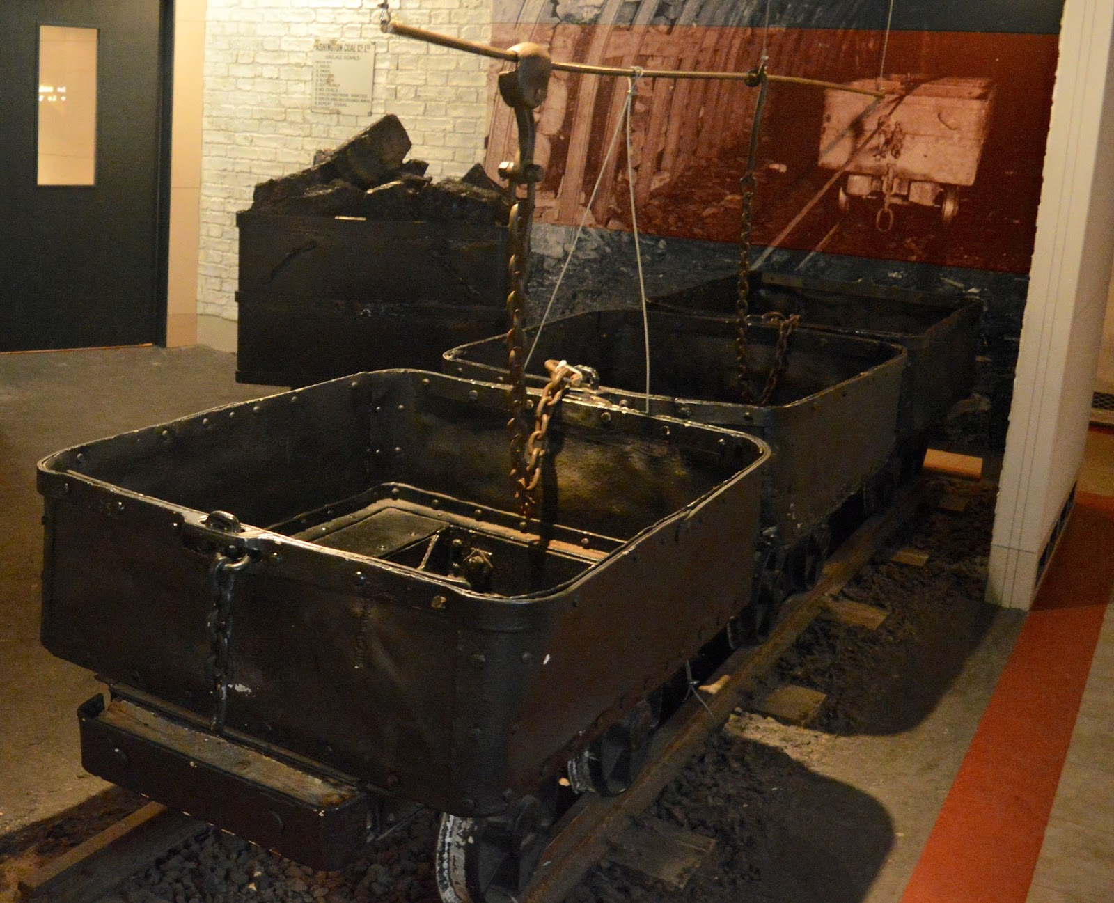 Frost of Forgetfulness | A FREE Winter Trail and activity at Woodhorn Museum in Northumberland (continues until 23rd December) - coal cart