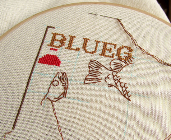 Fishing sampler, вышивка, embroidery