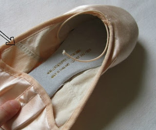 How to sew Pointe shoes 4