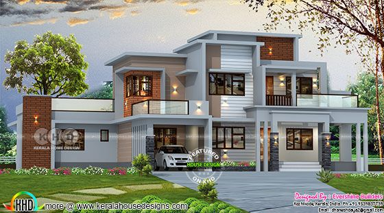2850 square feet 4 bedroom box model contemporary house plan