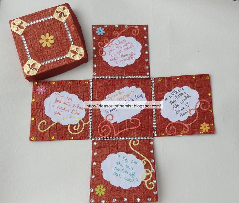 How to make  beautiful handmade teacher   day card also ideas out of the mist rh ideasoutofthemistspot