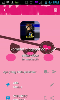 BBM MOD  v3.0.1.25 Pink Backgroud Apk Latest Version
