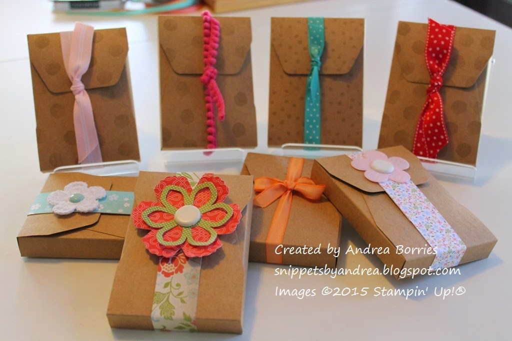 Eight completed boxes from the February 2015 Paper Pumpkin kit (with additional supplies).