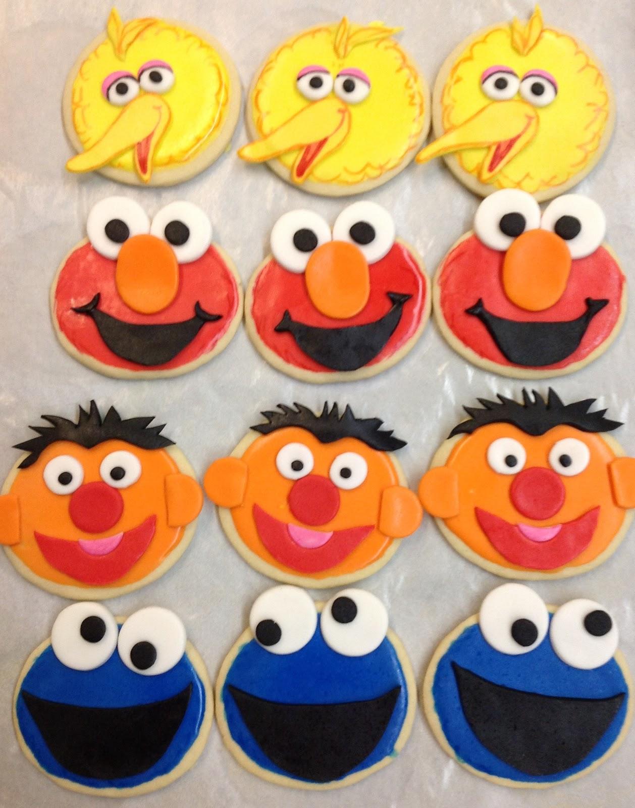 Plumeria Cake Studio Elmo Mini Cake And Sesame Street Cookies