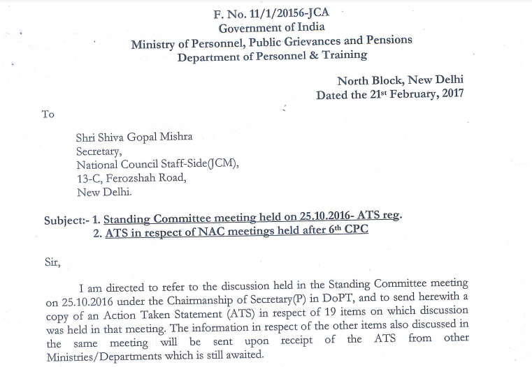 Action Taken Statement Of Standing Committee And National Anomaly After 6th CPC