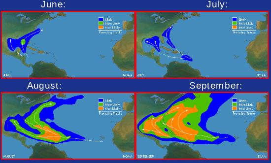 Hurricane Harbor: 20% Yellow Circle in Caribbean. Why Hurricanes ...