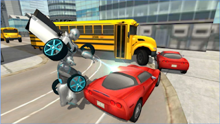 Flying Car Robot Simulator Apk Unlocked all item for android