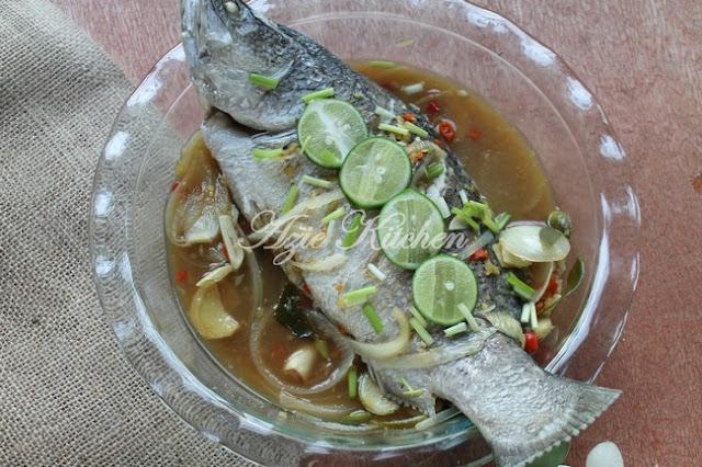 Ikan Siakap Stim Yang Mudah Dan Sedap
