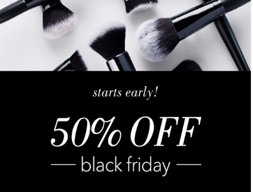 ELF Cosmetics Black Friday 50% Off