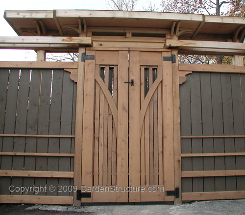 Fence Gate Design Ideas: Wooden Fence Designs Offer A Rustic Look