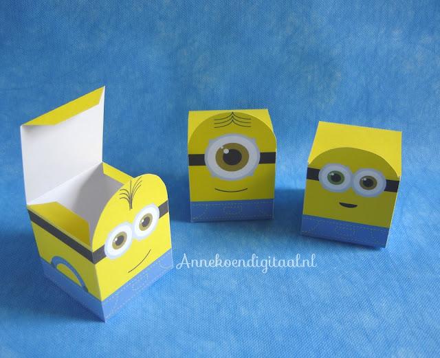 minions traktatie maken, traktatie minions, verschrikkelijke ikke film, minions uitdelen, minions printable, gratis minions bouwplaat, minions banaan