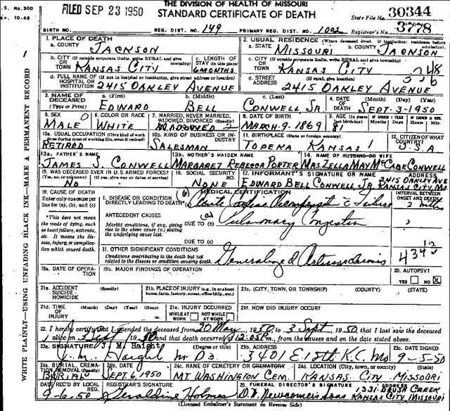 genealogy basics: death certificates | talking box genealogy