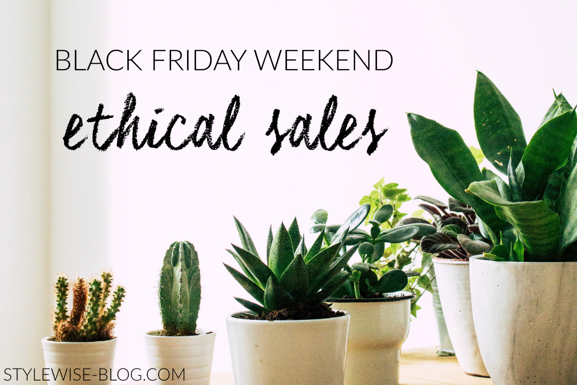 ethical and sustainable black friday and cyber monday sales and coupon codes stylewise-blog.com