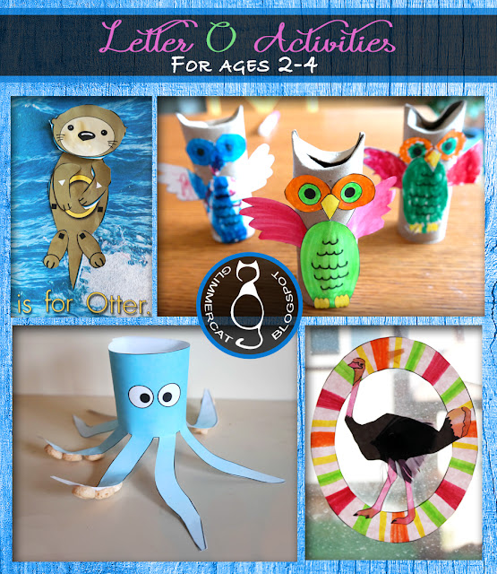 Glimmercat letter of the week for o for Letter o crafts for preschool