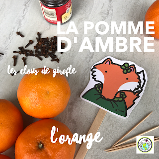 La pomme d'ambre craft for French class