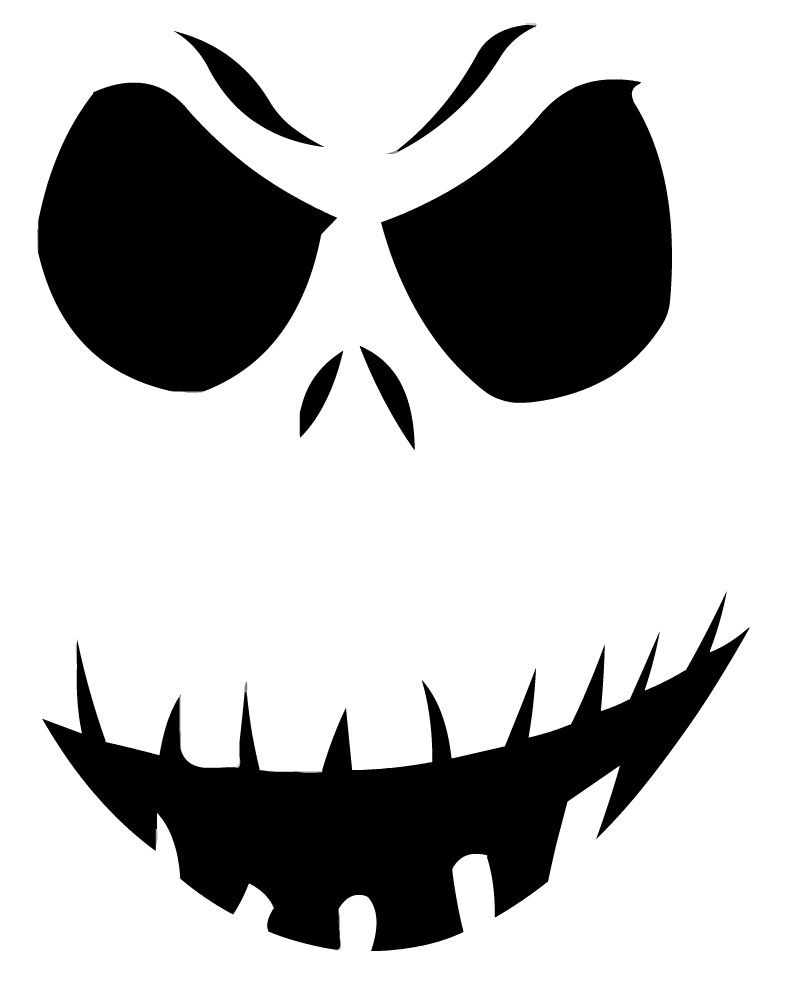 Free printable jack skellington pumpkin carving stencil for Pumpkin mouth template