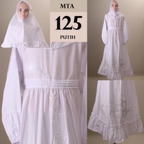 Kumpulan Foto Baju Muslim Anak Perempuan Warna Putih Polos