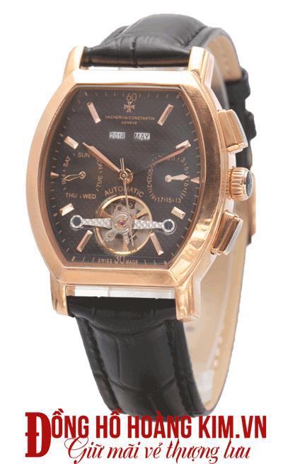 đồng hồ nam dây da mặt vuông giá rẻ cao cấp